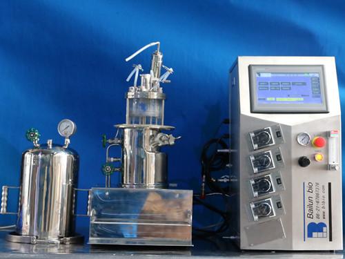原位灭菌磁力搅拌玻璃发酵罐(台式)
