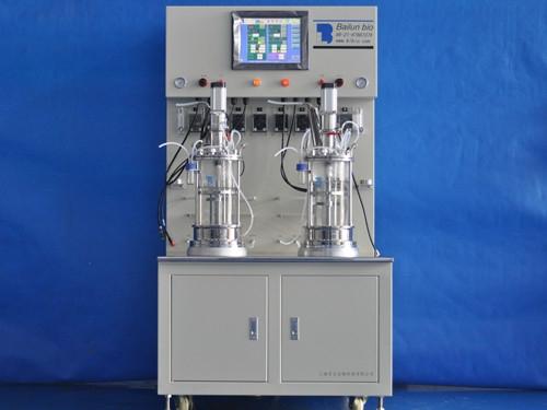 二联离位灭菌玻璃发酵罐(柜式)