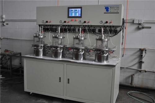 四联原位灭菌磁力搅拌玻璃发酵罐