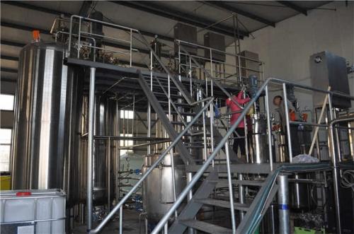 5T发酵罐系统2套(不锈钢二级平台)