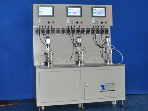 three conjoined  bioreactors|fermenters (conjoined)
