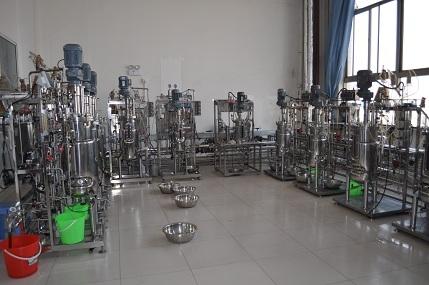 ten  conjoined fermentors bioreactors