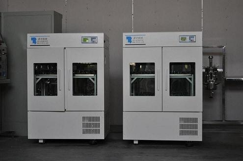 Large capacity double incubation shaker series