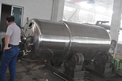 Siendo procesado 3m³ fermentador