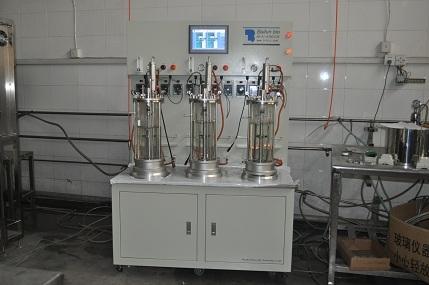 Desalojo trío fermentador de vidrio esterilizado agitación magnética