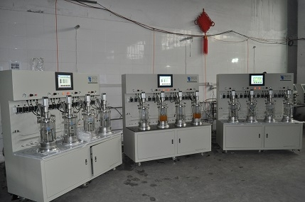 4 agitación mecánica asociada fuera de sitio fermentador vidrio esterilización
