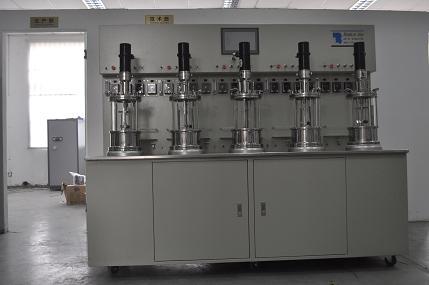 Cinco de fuera de las instalaciones de esterilización mezcla mecánica fermentador de vidrio