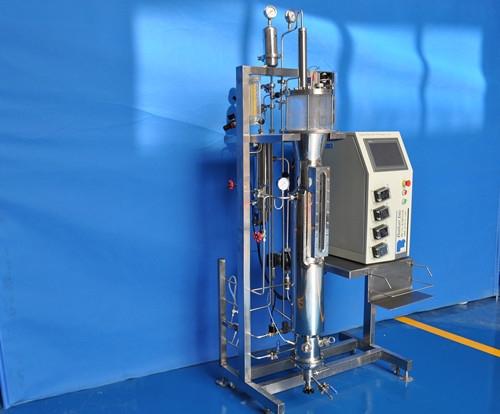 Puente aéreo fermentador de vidrio agitado (la esterilización in situ)